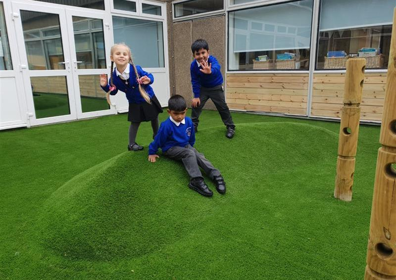 playground surfacing and landscaping