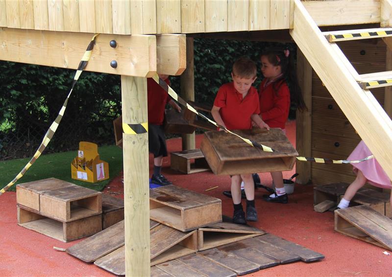 Outdoor play castle for schools