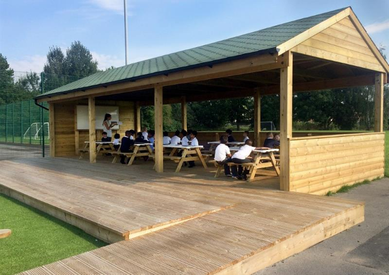 Outdoor Gable End Classrooms For Schools