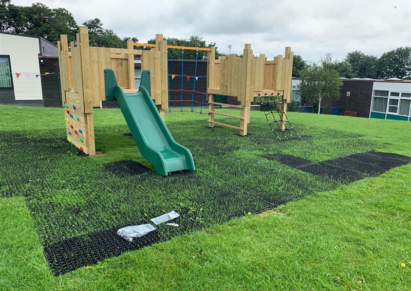Rubber Grass Mats for playgrounds