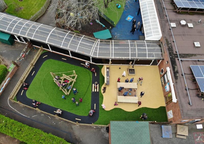 School playground surfacing