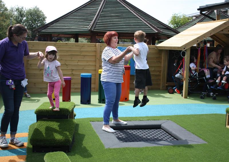 Trampolines for school playgrounds