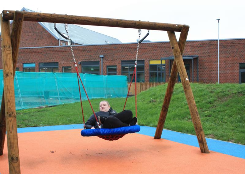 School playground swings
