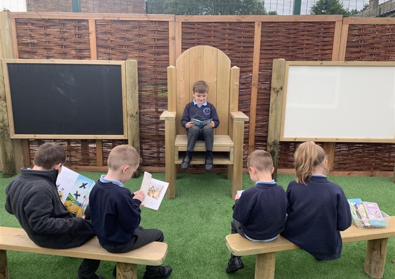 School playground seating