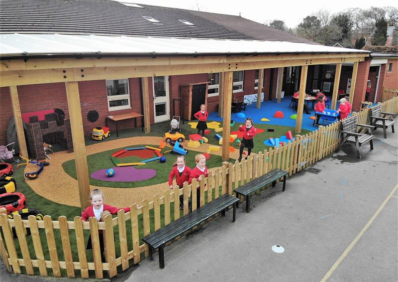 timber canopies for primary schools
