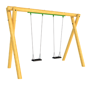 Timber Swing (2.4M) with Two Flat Seats