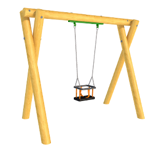 Timber Swing (2M) with Cradle Seat