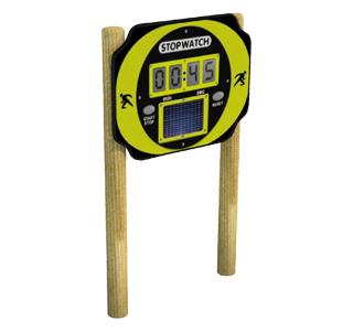 Solar Powered Stop Watch on Posts