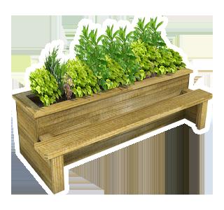 Straight Planter Bench