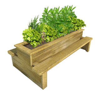 Back-to-Back Planter Bench