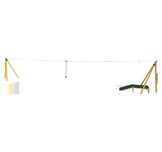 Zip Wire 1-Way (25M)