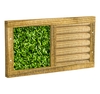 Sensory Panel with Artificial Grass and Half Round