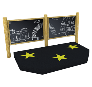 Performance Stage with Chalkboard