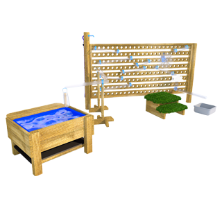 Water Wall with Water Play Package