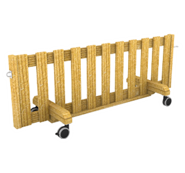 Interactive Fence Panel on Wheels