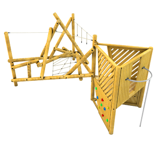 Bowfell Climber with Platform and Fireman's Pole