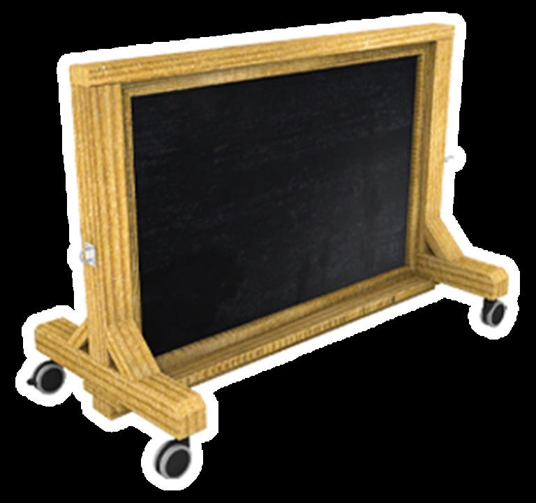 Interactive Chalkboard Panel on Wheels
