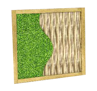 Large Sensory Panel with Artificial Grass and Decking