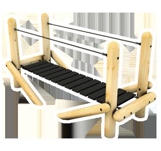Clatter Bridge with Rope Handrails