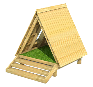 Forest Floor Learning Den with Window, Bench and Artificial Grass Base