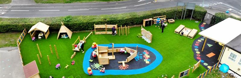Playground equipment for preschools