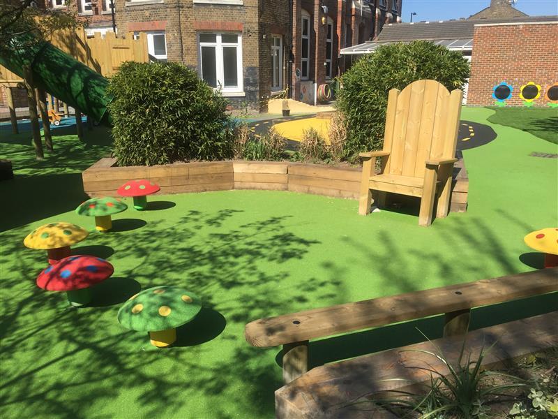 Harbinger Primary School' Playground Story Telling Circle
