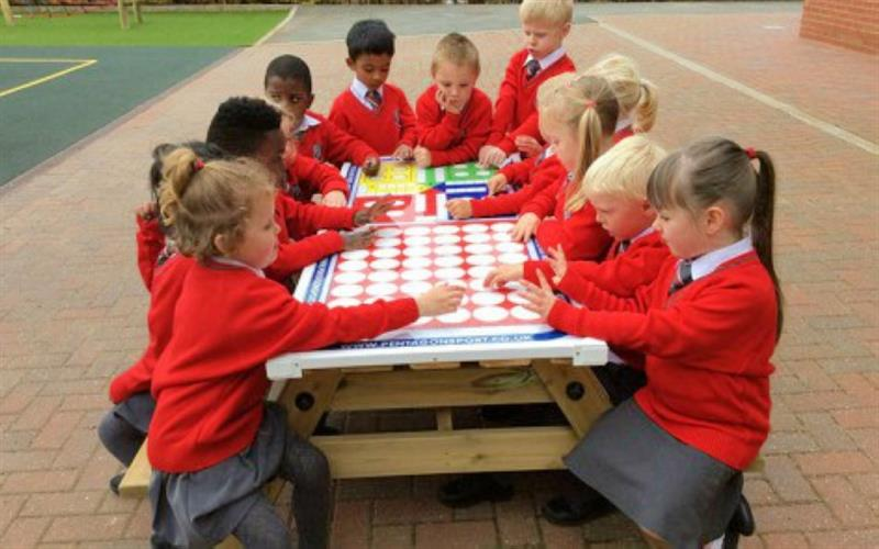 Gametop Picnic table - Rugby Free School Playground