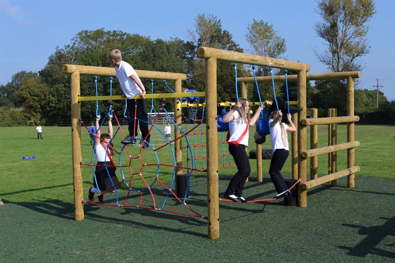 Severn Beach Primary's New Active Play Zone | Pentagon Play