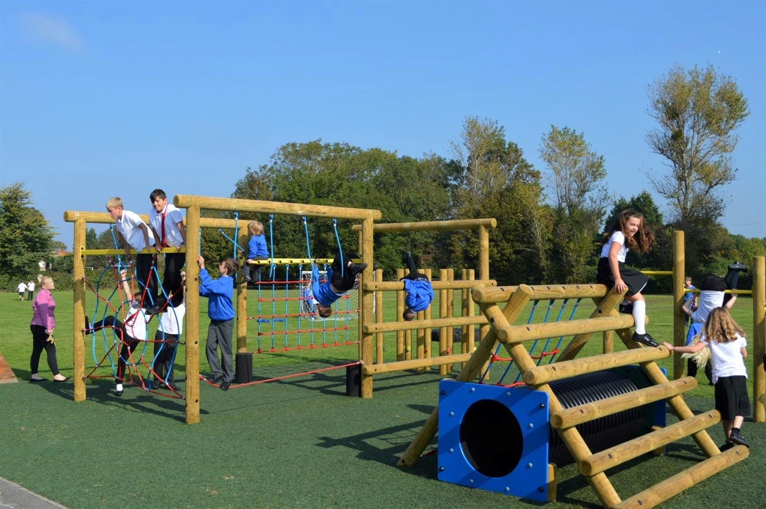 Severn Beach Primary S New Active Play Zone Pentagon Play