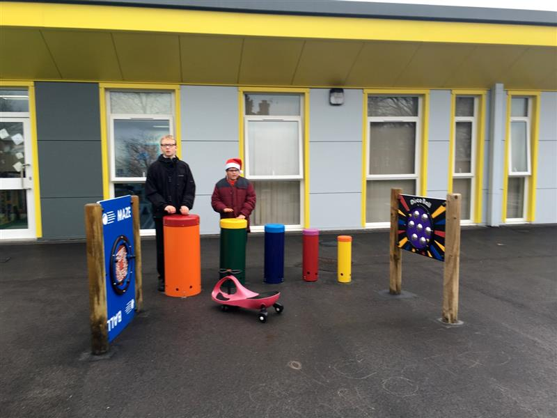 Musical playground equipment for children with special educational needs