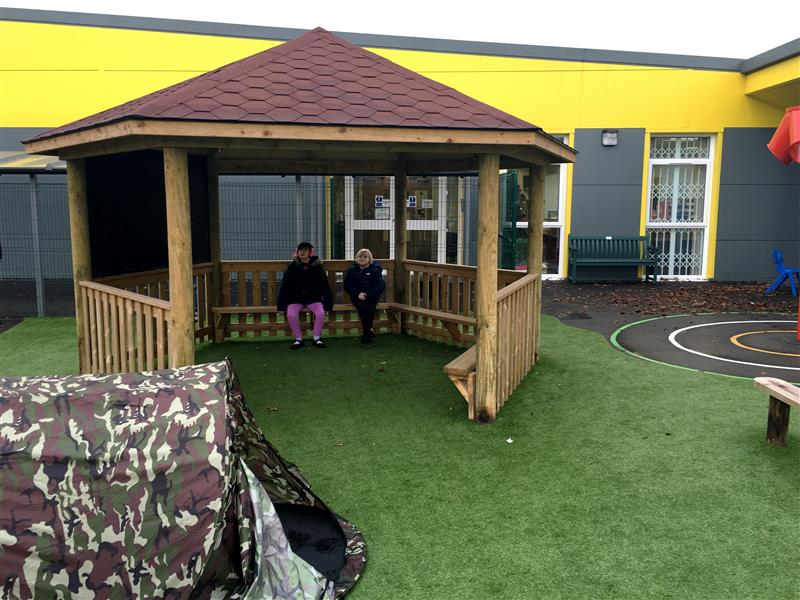 Gazebo for children with special educational needs