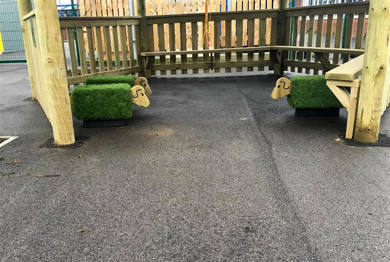 grass Sheep Seats - SEN playground equipment