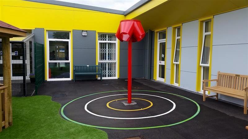 3-way ball shoot allows children with wheelchairs enjoy sport practise