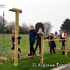 St Andrew's Primary School's New Trim Trail