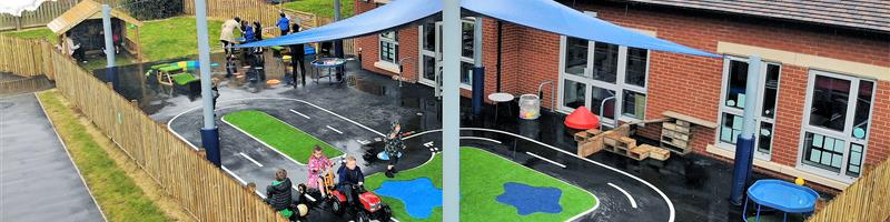 Malpas School's EYFS Playground Development