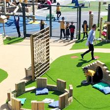 Hillcrest Academy's Natural Play Area