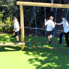 Etchells Primary School's Trim Trail