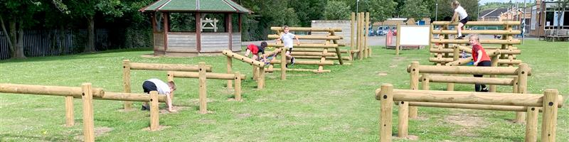 Chaloner Primary School's Ninja Assault Course