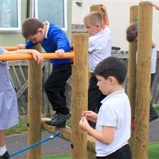 Wilcombe Primary School's Trim Trail