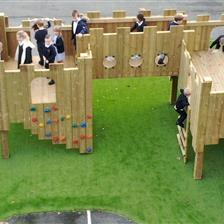 Marshchapel Infants School's Playground Castle