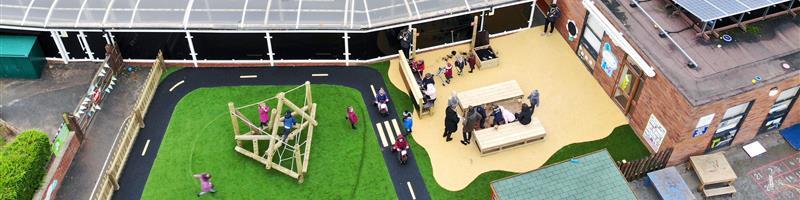 Wistaston Academy's EYFS Playground Development