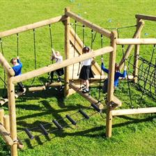 Asquith Primary School's Puzzlewood Climbing Frame