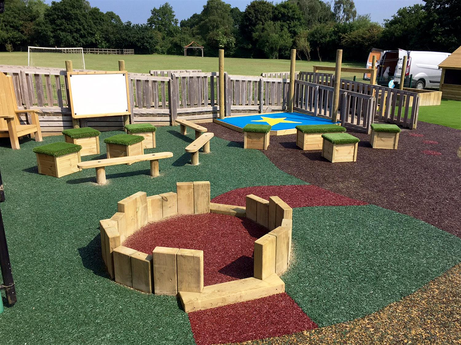 Emmer Green School S Open Ended Playground Pentagon Play