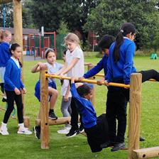A Terrific Trim Trail Play Area for All Saints Primary School