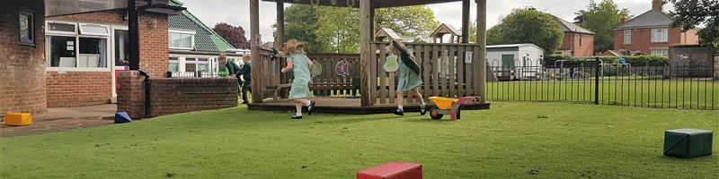 An Artificial Grass Play Space at Thorne Green Top