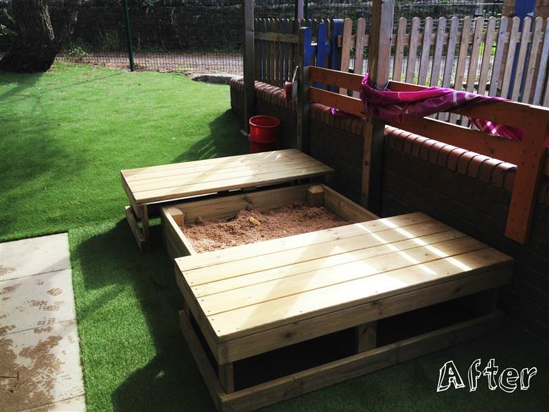 EYFS playground sand pit