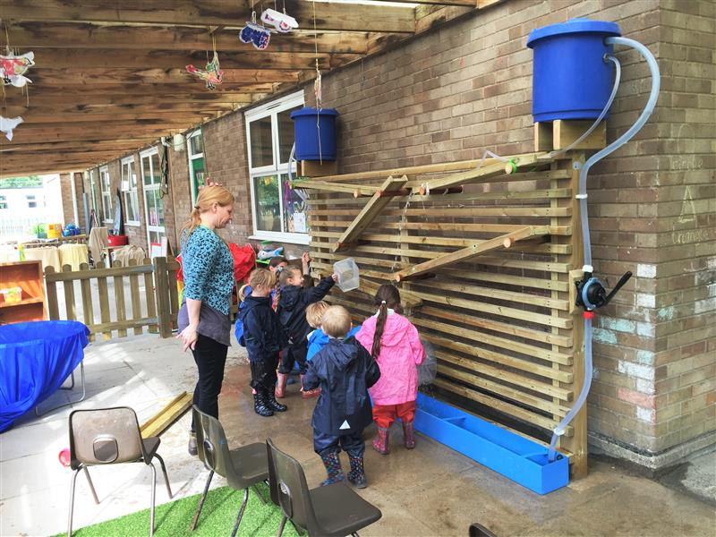Water Wall - EYFS playground