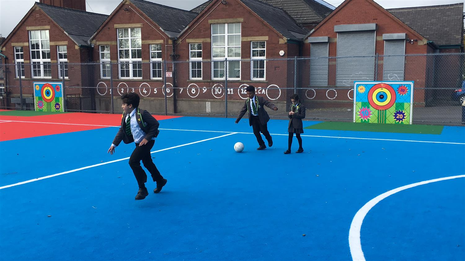 Werneth Primary School S Muga Pitch Pentagon Play