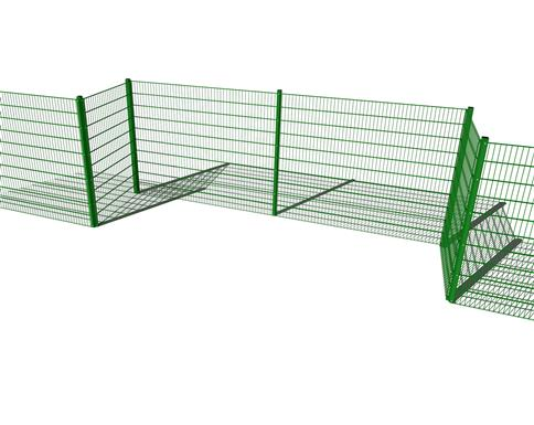 Sport Fencing 2M High Recessed Goal