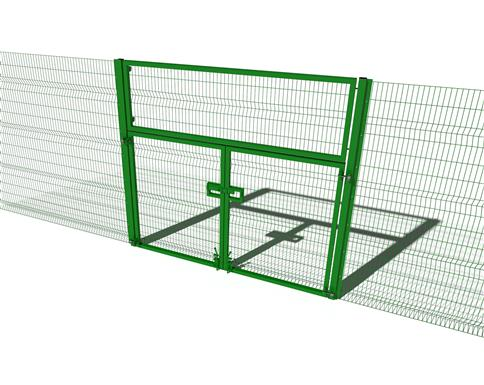 Security Fencing High Double Gate
